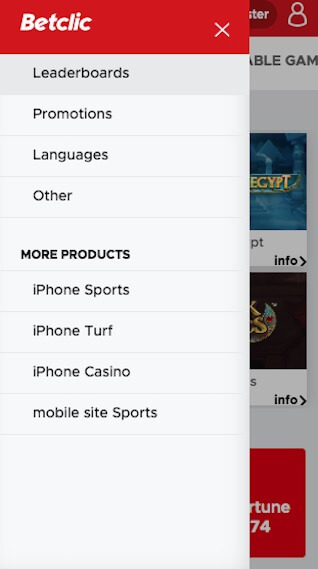 betclic app menu