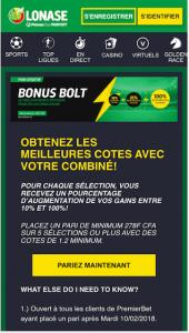 Promo Bonus Bolt
