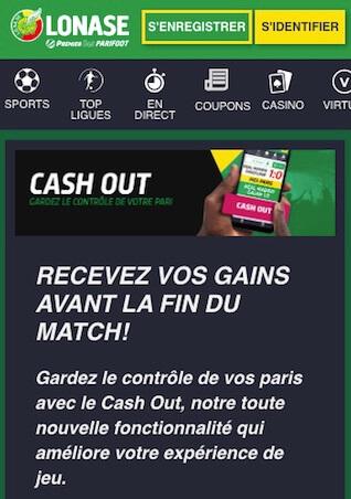 premier bet option cash out paris sportif