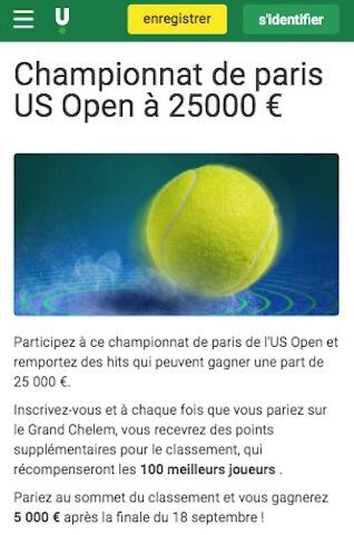 cagnotte us open tennis