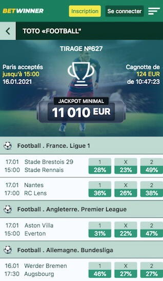 betwinner prono foot toto