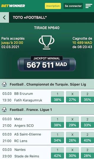 bet winner paris toto football