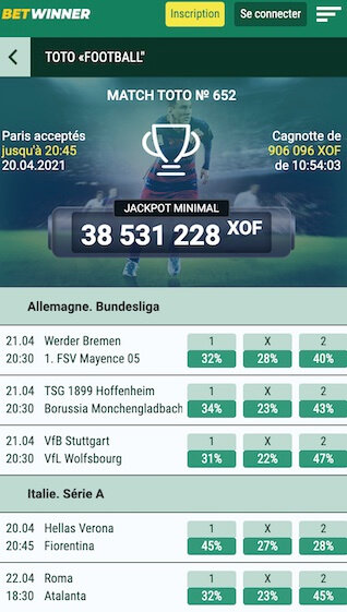 bet winner toot football cagnotte