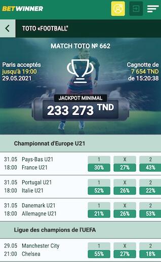 toto football bet winner finale ldc