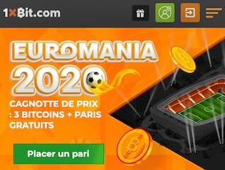 1xbit pari sportif euro 2021